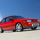 Red Ford Laser TX3 4WD Turbo by John Jovic