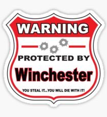 Winchester Protected by Winchester Sticker