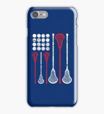 USA Lacrosse American Flag iPhone Case/Skin