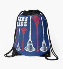 USA Lacrosse American Flag Drawstring Bag
