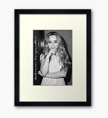SABRINA CARPENTER  Framed Print