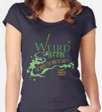 The Weird Sisters Goblet of Fire Tour '94 green Women's Fitted Scoop T-Shirt