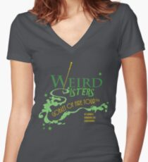 The Weird Sisters Goblet of Fire Tour '94 green Women's Fitted V-Neck T-Shirt
