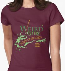 The Weird Sisters Goblet of Fire Tour '94 green Womens Fitted T-Shirt