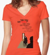 Did you get pears? Women's Fitted V-Neck T-Shirt