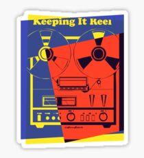 Pop Art Reel To Reel Sticker