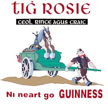 Guinness Gaelic Vintage Poster by masseygoose