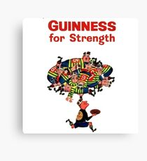 Guinness Vintage Rugby Ad Canvas Print