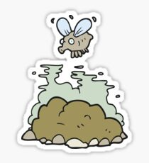 cartoon fly and manure Sticker