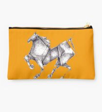 Orange Origami Horse Studio Pouch