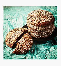 Fresh Baked Cookies with Sesame Photographic Print