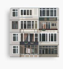 Post-Soviet urban aesthetic Canvas Print
