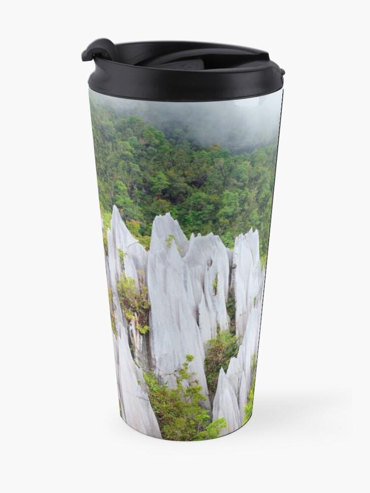 Alternate view of Limestone pinnacles at gunung mulu national park Travel Mug