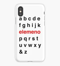 Little Kid Alphabet. iPhone Case/Skin