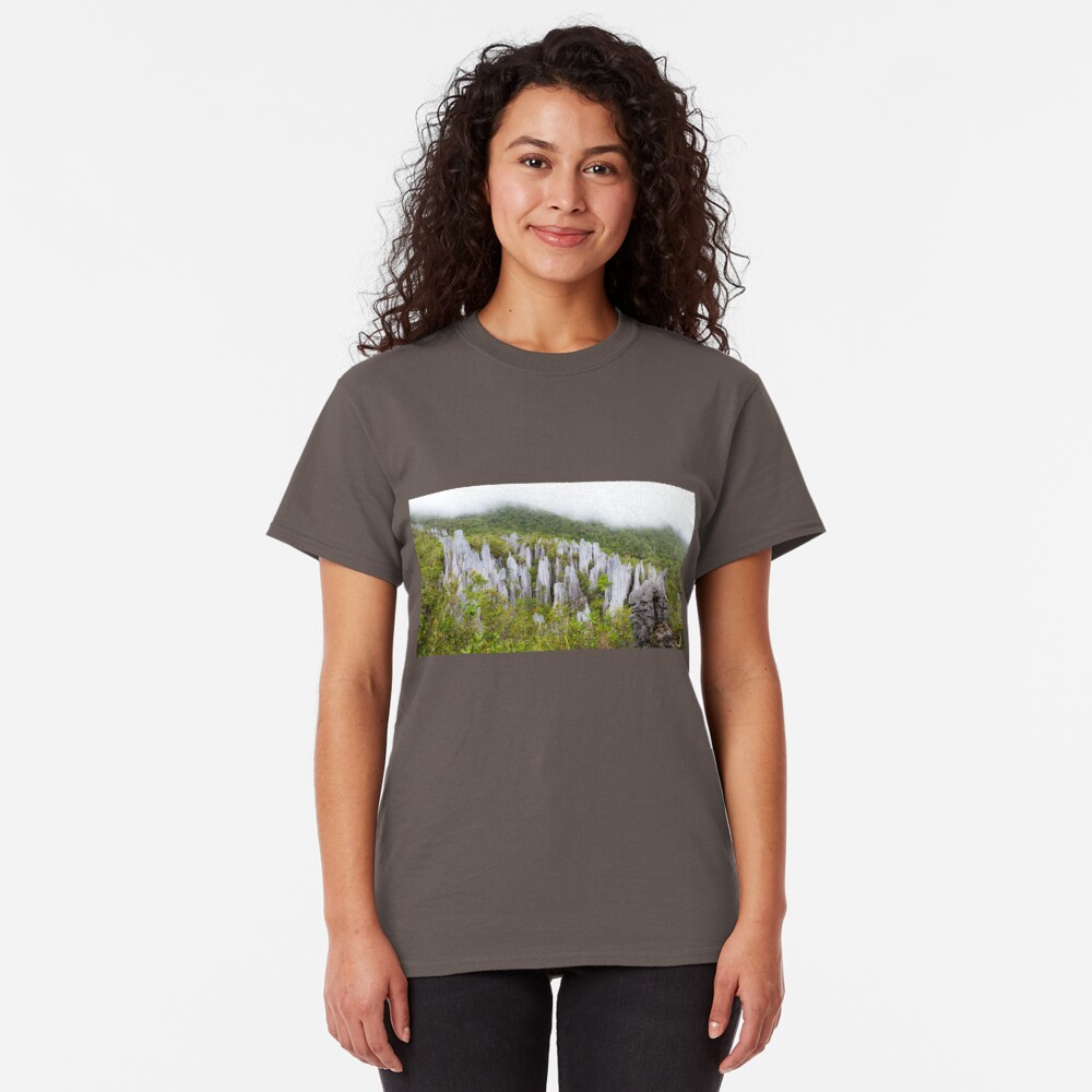 Limestone pinnacles at gunung mulu national park Classic T-Shirt