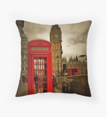 Westminster Phone Box Throw Pillow