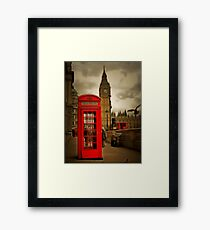 Westminster Phone Box Framed Print