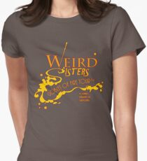 The Weird Sisters Goblet of Fire Tour '94 yellow Women's Fitted T-Shirt
