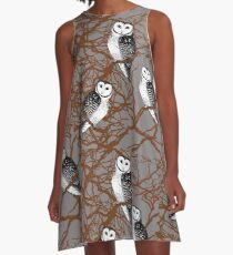Tasmanian Masked Owl - Endangered Species A-Line Dress