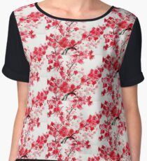Cherry Blossoms Women's Chiffon Top
