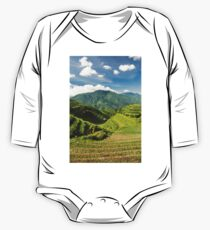 Landscape of rice terraces in china One Piece - Long Sleeve