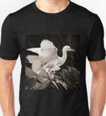 Cattle egret courtship display Unisex T-Shirt