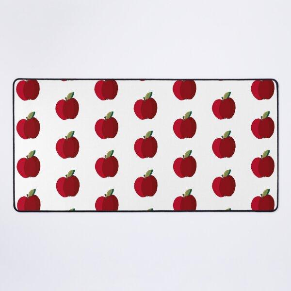 Doodle red apple  Desk Mat