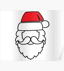 Santa Claus Red Hat Poster