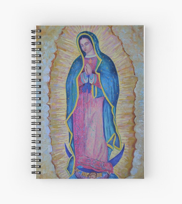 0298ea5fb Cuadernos de espiral «Nuestra Señora de Guadalupe pintura