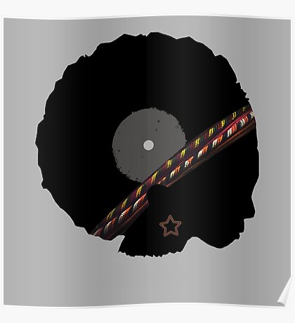 Afro Vinyl Record - African Woman Poster
