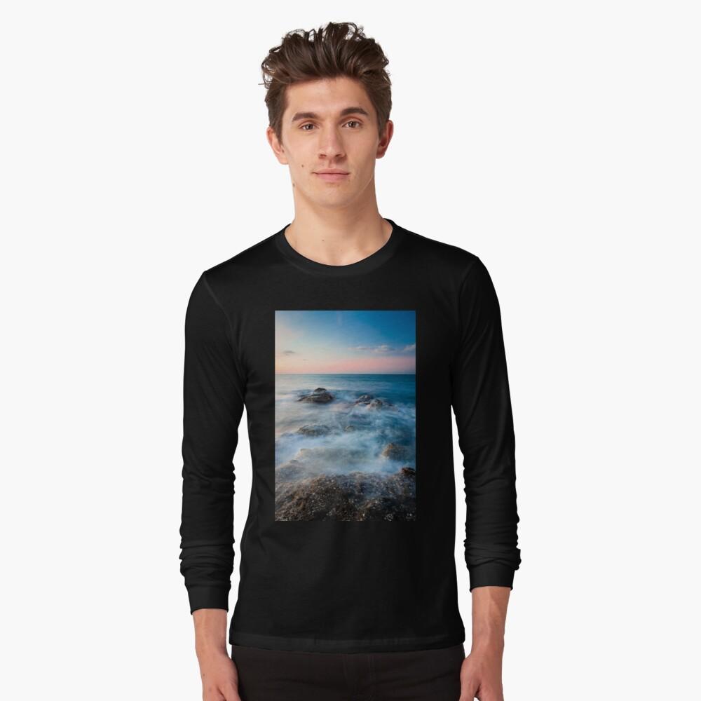 Waves and rocks long exposure Long Sleeve T-Shirt