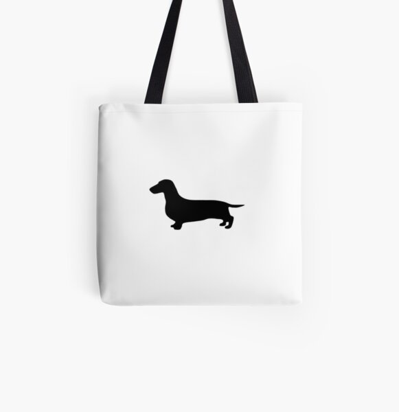Dachshund Tote Bag-Reusable Cotton Canvas Grocery Bag-Gilmore the Dachshund-Gift for Dog Lover SALE