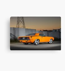 Orange 1970 Plymouth Barracuda Canvas Print