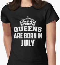 Queens Are Born In July Women's Fitted T-Shirt