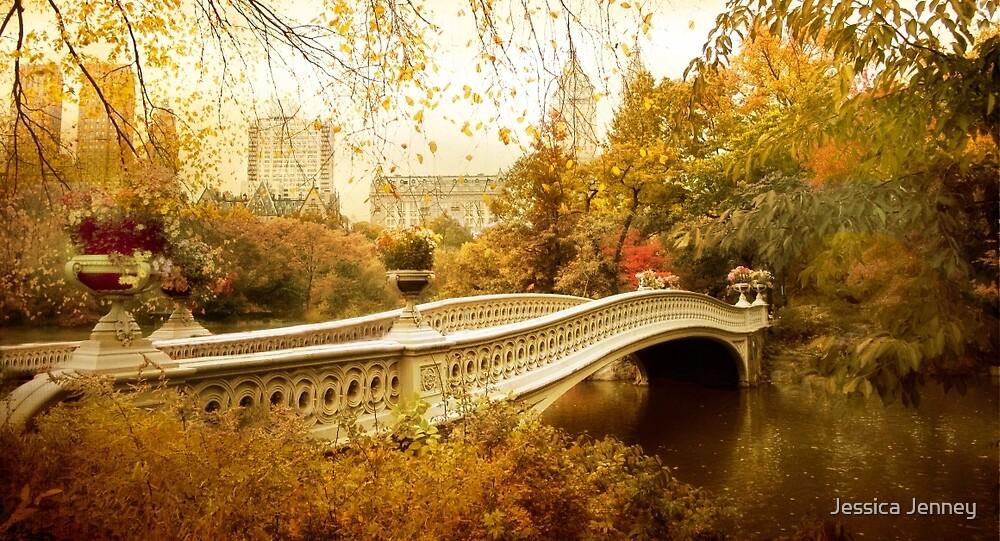 Bow Bridge Autumn Gold by Jessica Jenney