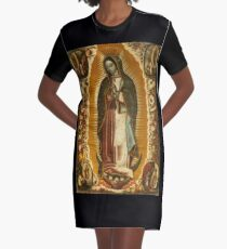 Our Lady of Guadalupe, Virgin Mary, Blessed Mother Graphic T-Shirt Dress