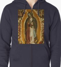 Our Lady of Guadalupe, Virgin Mary, Blessed Mother Zipped Hoodie
