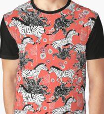pattern of running zebras Graphic T-Shirt