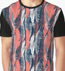graphic pattern of feathers Graphic T-Shirt