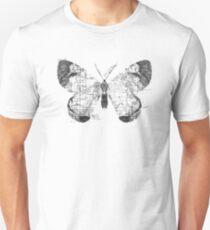 Butterfly Wanderlust Black and White Unisex T-Shirt