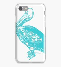 Turquoise Pelican  iPhone Case/Skin