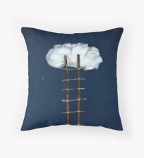 Stairway to the clouds Throw Pillow