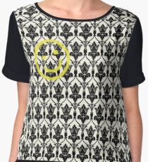 BBC Sherlock 'Bored Smiley Face'  Chiffon Top
