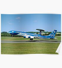 Boeing E-3A Sentry LX-N90442 Anniversary Colours Poster