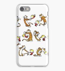 Dancing Calvin and Hobbes iPhone Case/Skin