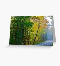 The road well traveled Greeting Card