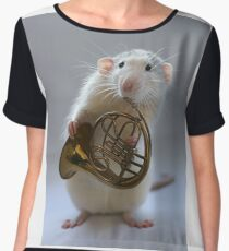 French horn. Chiffon Top