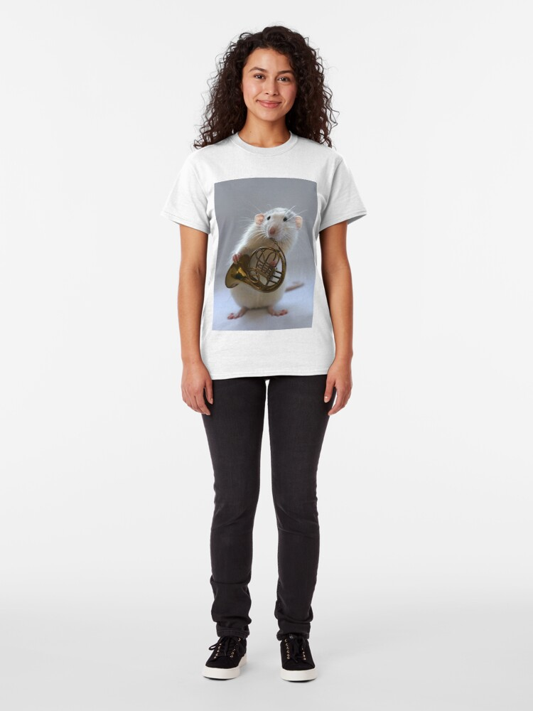 Alternate view of French horn. Classic T-Shirt