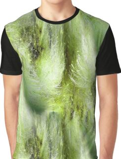 Cattail Fluff Abstract Pattern Graphic T-Shirt