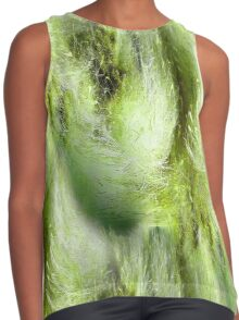 Cattail Fluff Abstract Pattern Contrast Tank